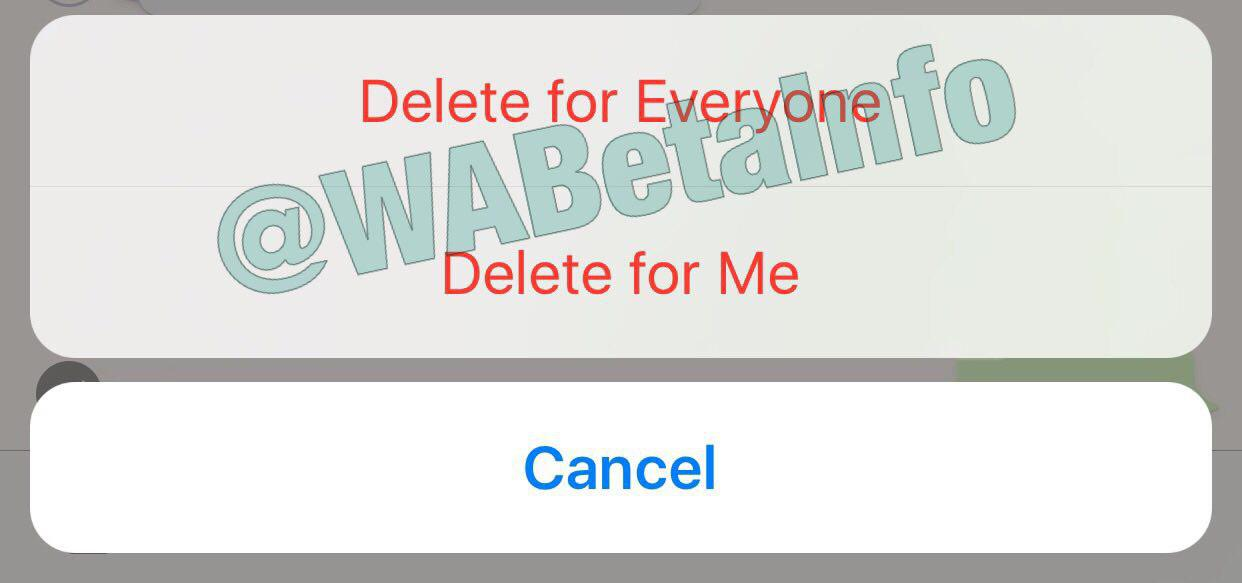 WhatsApp is rolling out the Delete for Everyone (Recall