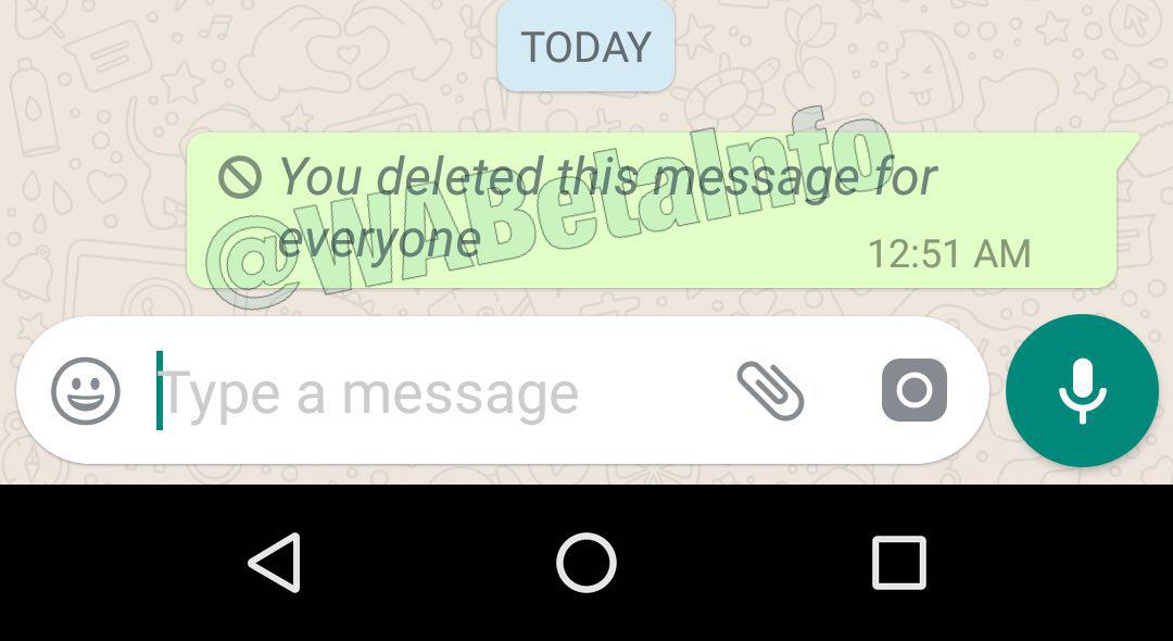 WhatsApp is rolling out the Delete for Everyone (Recall) feature for