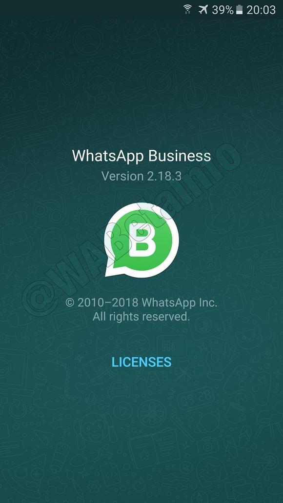 Whatsapp Business Wabetainfo