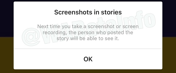 Instagram will send a notification when you record your screen