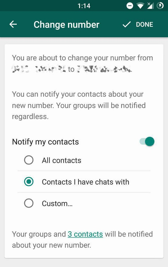 WhatsApp Latest Update: Easy to Inform Friends About Your New Number