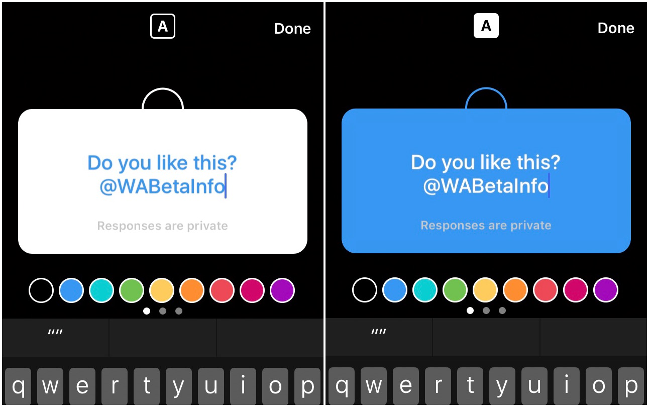 Instagram to support Q&A sticker! | WABetaInfo