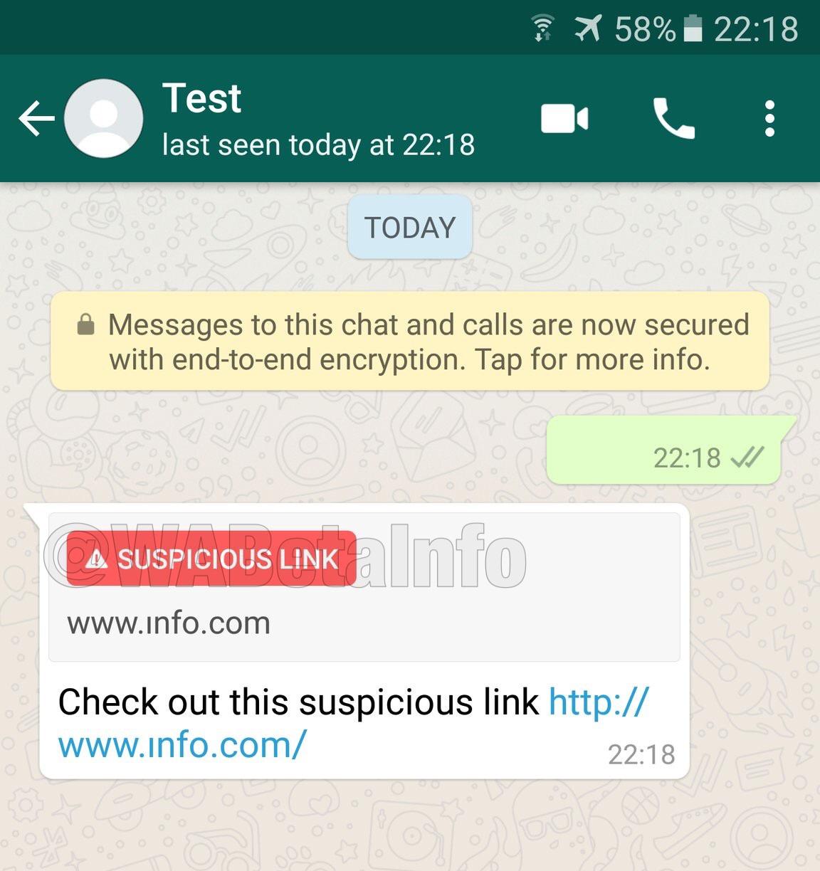 WhatsApp warnt euch demnächst vor Links, in denen ungewöhnliche Zeichen verwendet werden.
