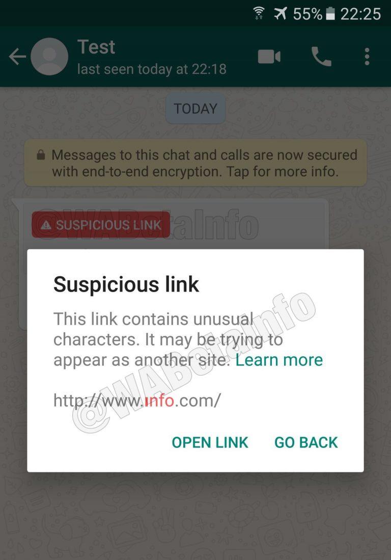 WhatsApp warnt euch doppelt. Ihr müsst nach einem Klick noch ein Warnfenster bestätigen.