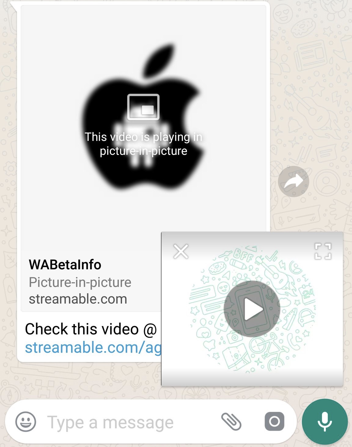 WhatsApp is rolling out the PiP mode for Android today! | WABetaInfo