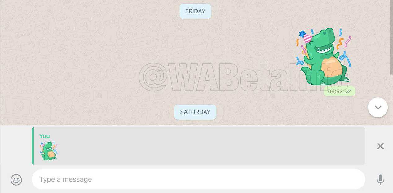 WhatsApp is rolling out the Stickers feature!   WABetaInfo