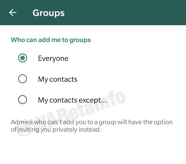 Whatsapp Is Rolling Out The Group Privacy Settings