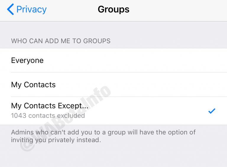 كيفية منع إضافة الأعضاء لمجموعات واتساب دون موافتهم 1