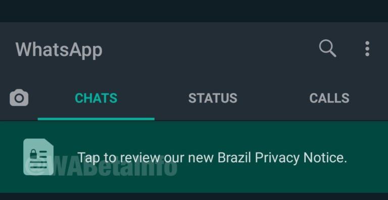 whatsapp beta privacy brasil