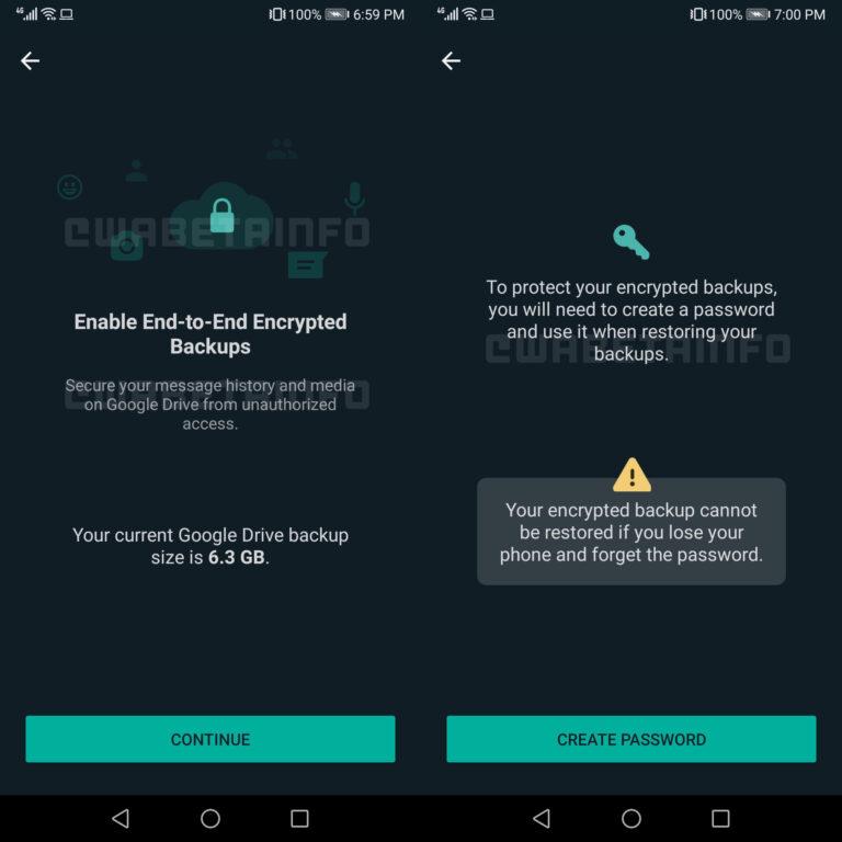 WhatsApp realiza pruebas de encriptación en las copias de seguridad